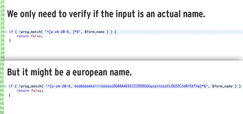 input pattern for name validation regex to the rescue for input name validation