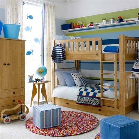 Colourful Boys Bedroom With Bunks Boys Bedroom Ideas Decorate Boys Bedroom