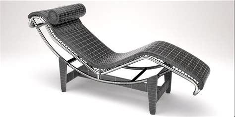 chaise lounge design lc4 chaise lounge design by le corbusier 3d model blend