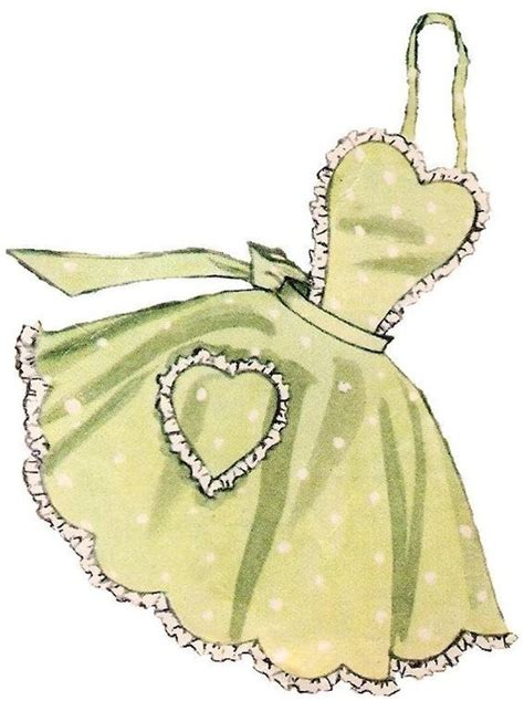 sewing pattern for apron sewing patterns free sewing and vintage apron on pinterest