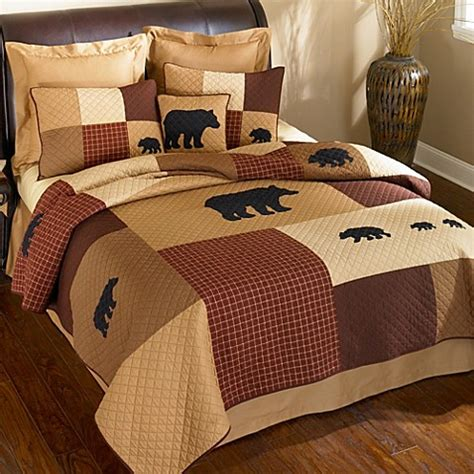 bed bath and beyond logan utah donna sharp logan bear quilted bedding collection www