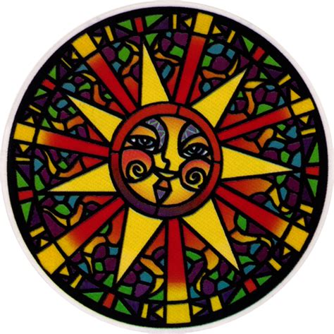 stained glass sun window sticker peace resource project