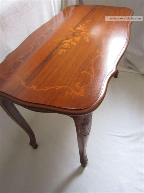 intarsien tisch inlay coffee table biedermeier tisch intarsien schellack