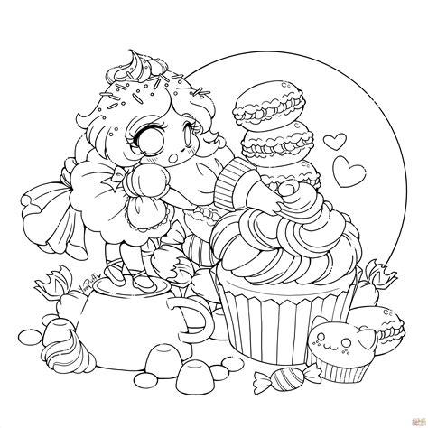 chibi lollipop girl coloring page free printable coloriage f 233 e chibi sucreries coloriages 224 imprimer