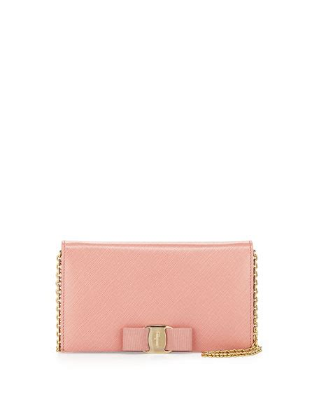 Bnib Salvatore Ferragamo Miss Vara Wallet salvatore ferragamo miss vara bow clip wallet on a chain blush