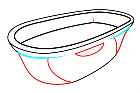 how to draw bathtub drawing a cartoon bathtub
