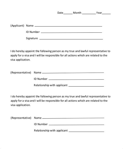 letter consent application form sle authorization letter 10 exles in word pdf
