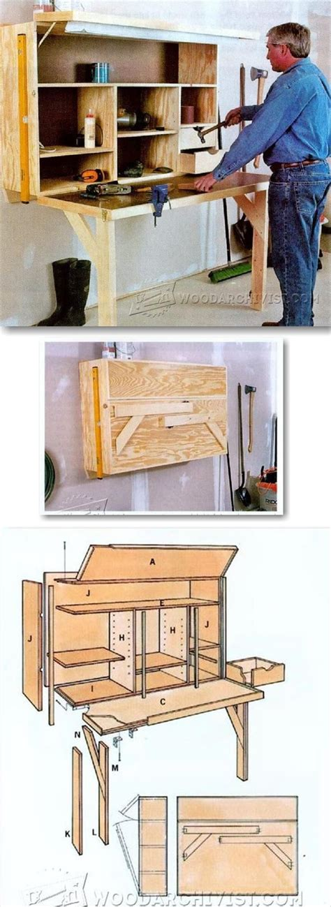 fold down work bench fold down workbench plans workshop solutions projects
