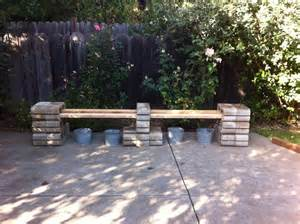 great bench idea using cinder blocks cinder block magic pinterest cinder blocks benches