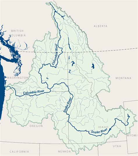 columbia river map columbia river map images