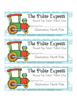 printable minivan express tickets the polar express tickets eng free by lidia barbosa tpt