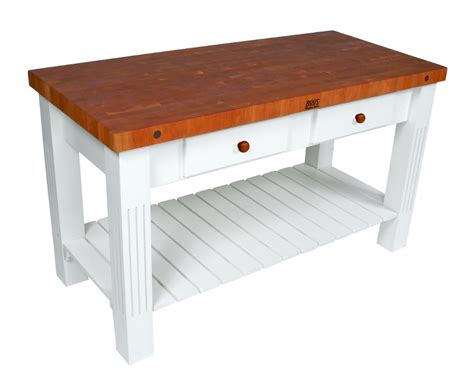 boos grazzi cherry butcher block table