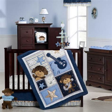 Monkey Baby Bedding Crib Sets Monkey Baby Crib Bedding Theme And Design Ideas Family Net Guide To Family Holidays On