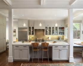 Kitchen Island With Columns Supporting Beams To Island Bench Kitchen Ideas