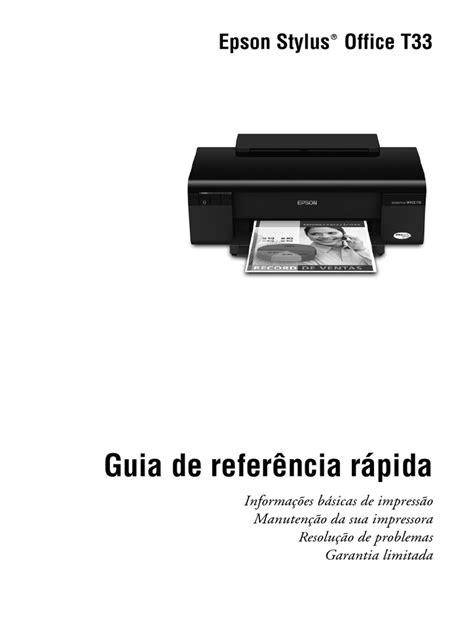 Apostila Impressora Epson t33 | Impressão | Impressora