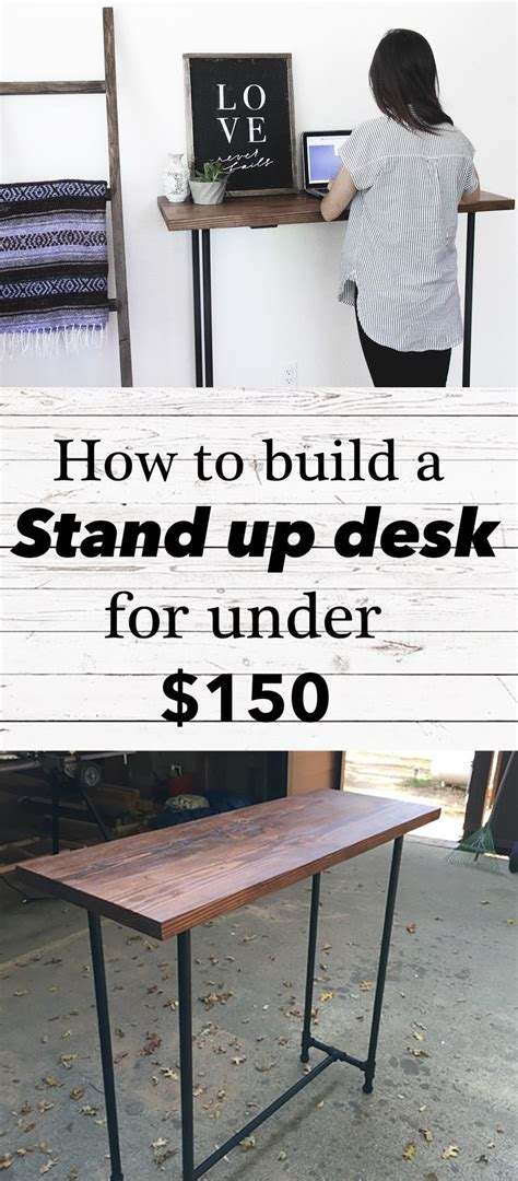stand up desk for home easy diy pipe stand up desk cost 150 approx
