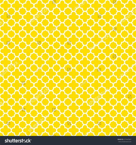 yellow quatrefoil pattern yellow white quatrefoil pattern background seamless stock