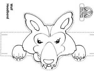 wolf puppet template craft a three pigs and the wolf headband the big