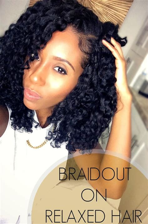 black hairstyles relaxed hair perfect braidout on relaxed hair hairstyle for black women