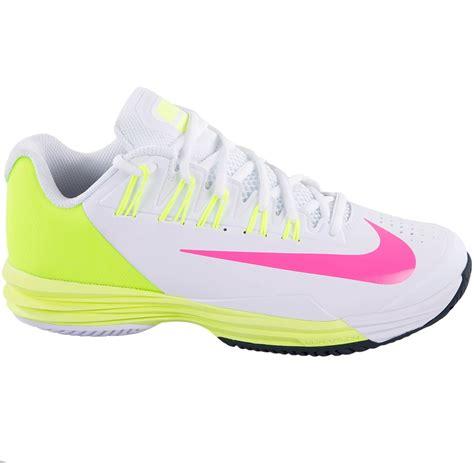 nike tennis shoes for nike lunar ballistec 1 5 s tennis shoe white volt pink