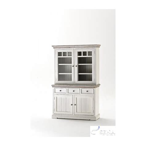 otello large solid wood display cabinet modern wood