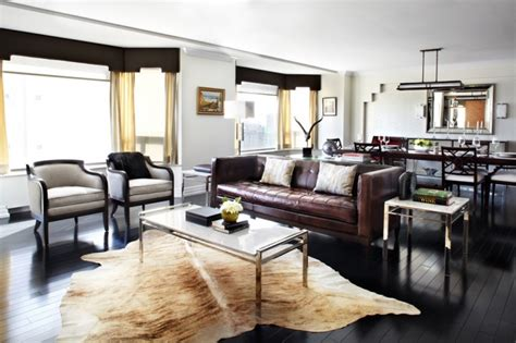 Modern Living Room With Brown Leather Sofa Modern Living Rooms With Brown Leather Sofa