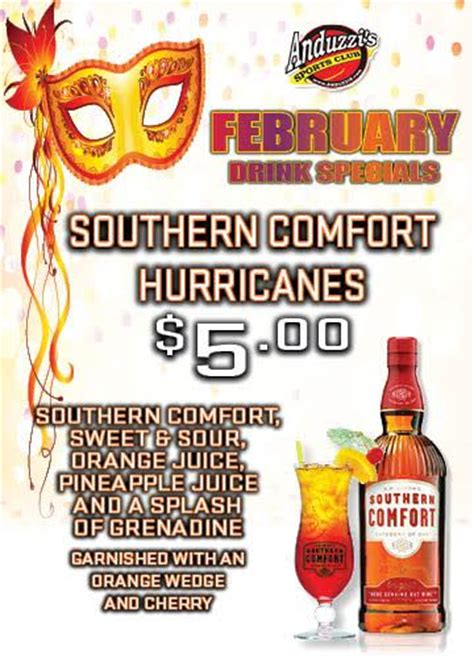 southern comfort hurricane southern comfort hurricanes anduzzis