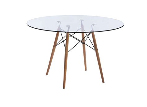 table salle a manger ronde en verre table ronde en verre siri achatdesign