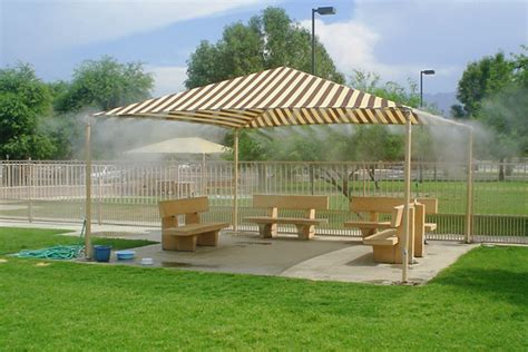 Commercial Patio Misters by Microcool Outdoor Cooling Mist For Restaurants Parks