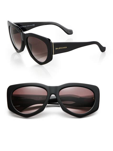 Balenciaga Glasses by Balenciaga 58mm Angular Sunglasses In Black For