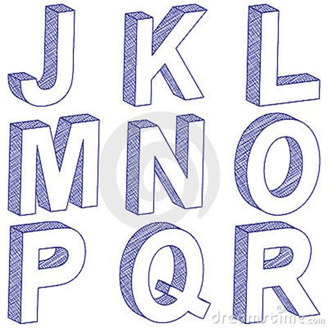 how to draw 3d letters drawing 3d letter j r by yuliyan velchev via dreamstime 1296