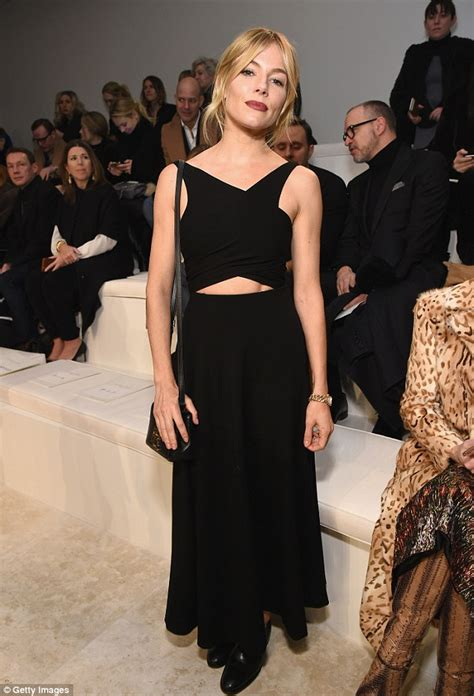 How Should A 34 Year Old Dress | sienna miller flashes her toned abs at ralph lauren nyfw