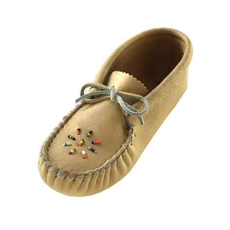 how to bead leather moccasins child junior genuine moosehide leather soft sole beaded