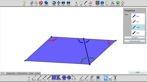 Paper Folding And Cutting - mid point theorem paper folding and cutting with tabula