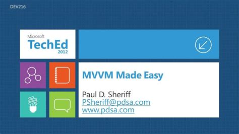 learn wpf mvvm xaml c and the mvvm pattern books mvvm in xaml simple and easy teched america 2012