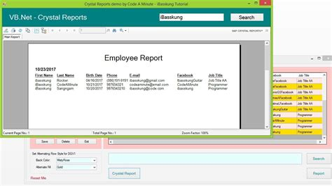 tutorial visual studio crystal reports vb net how to create a crystal reports using visual
