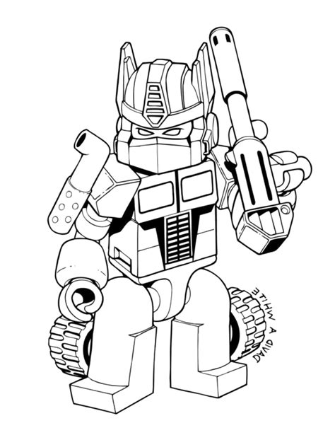 print lego transformers coloring pages