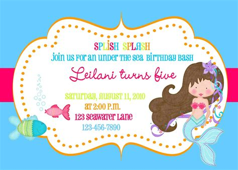 mermaid invitation template the sea mermaid invitation printable file