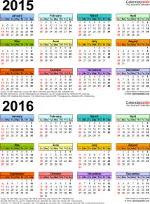 year calendar template 2015 2015 2016 calendar free printable two year word calendars