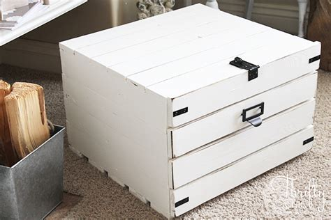 hidden printer cabinet thrifty and chic diy projects and home decor