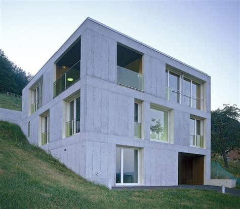semi concrete house design concrete home design in switzerland modern concrete moves into rural modern house
