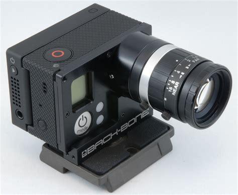 Gopro Lensa backbone ribcage interchangeable lens system for gopro 3 cinema5d