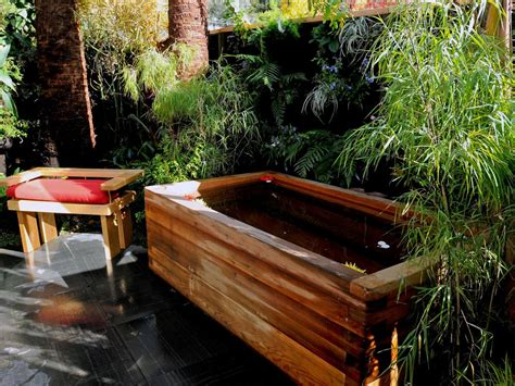 Backyard Bathtub by Design Ideas Outdoor Showers And Tubs Outdoor Spaces Patio Ideas Decks Gardens Hgtv