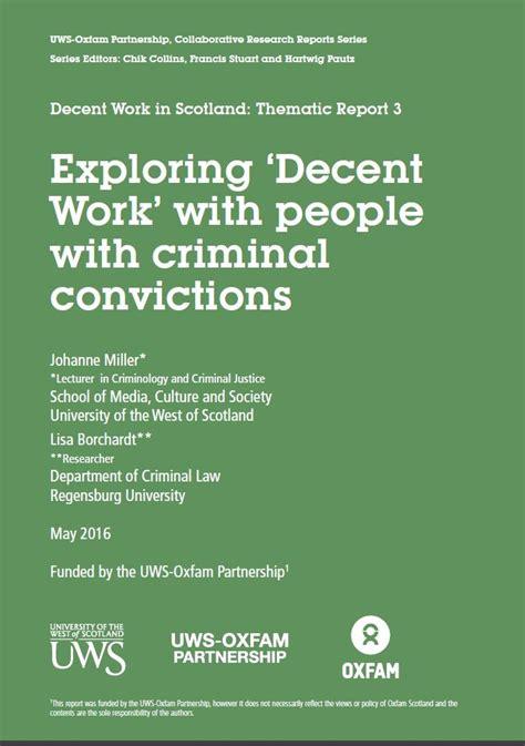 Criminal Conviction Partnership Projects Uws Oxfam Partnership