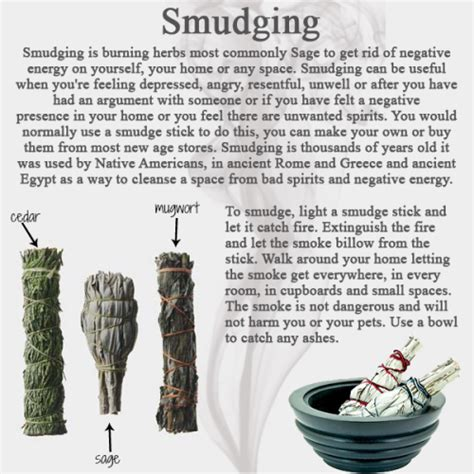 remove negative energy smudge sage protection cleansing witch new moon positive herbs protection pagan wicca