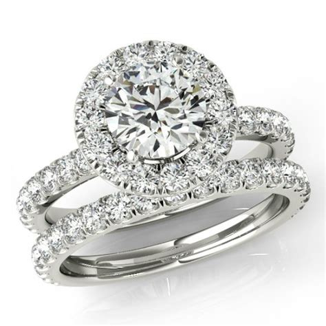 1 ct bridal set 1 50 ct forever one moissanite and wedding set