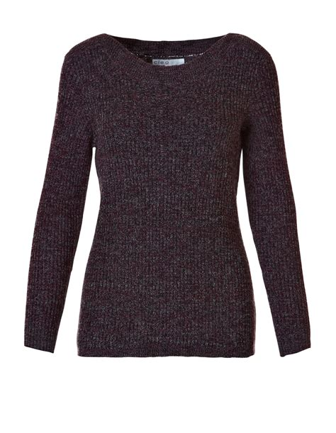 Mix Sweater garnet mix pullover sweater cleo