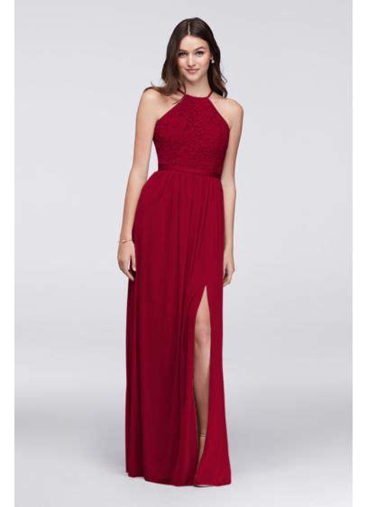 Davids Bridal Bridesmaid Dress by Open Back Bridesmaid Dress With Mesh Skirt David S Bridal
