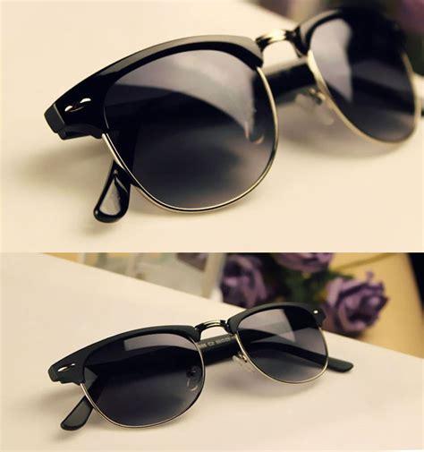aliexpress glasses new fashion summer vintage half frame clubmaster shades