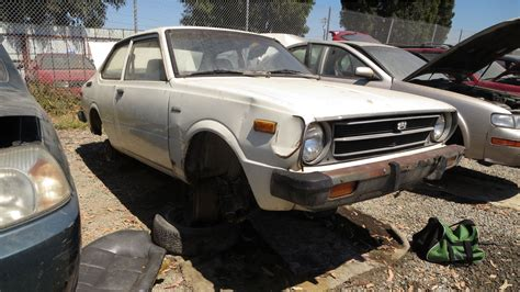 toyota car yard junkyard find 1977 toyota corolla two door sedan